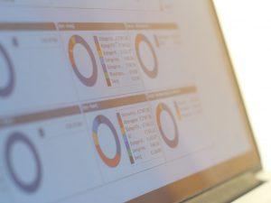 QlikView en Qlik Sense kennen veel verschillen. Op deze foto is een QlikView dashboard te zien.